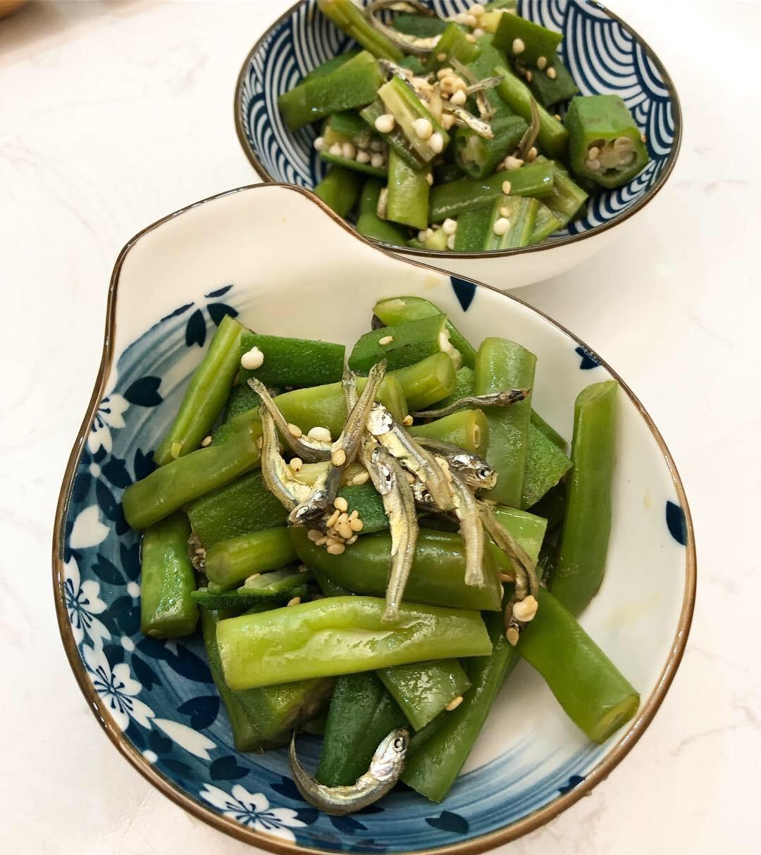 芝麻拌秋葵青豆