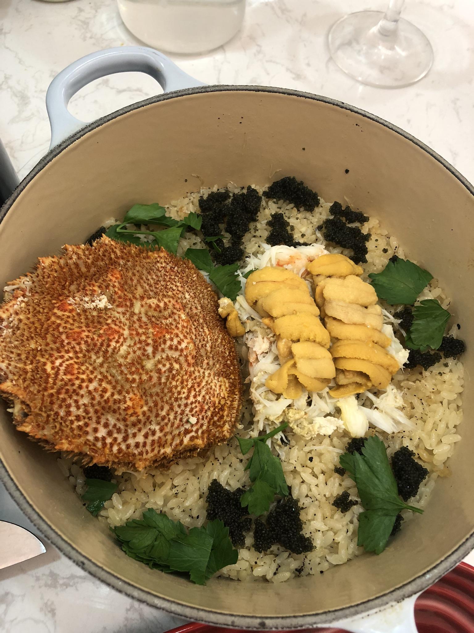 黑松露海膽蟹肉日式飯