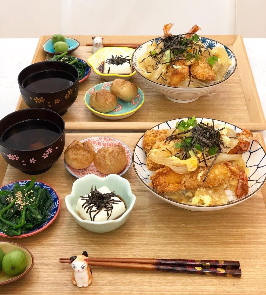 滑蛋吉列蝦定食