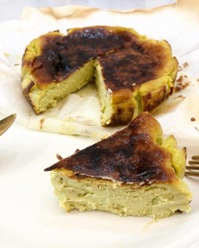 巴斯克焦香綠茶芝士蛋糕