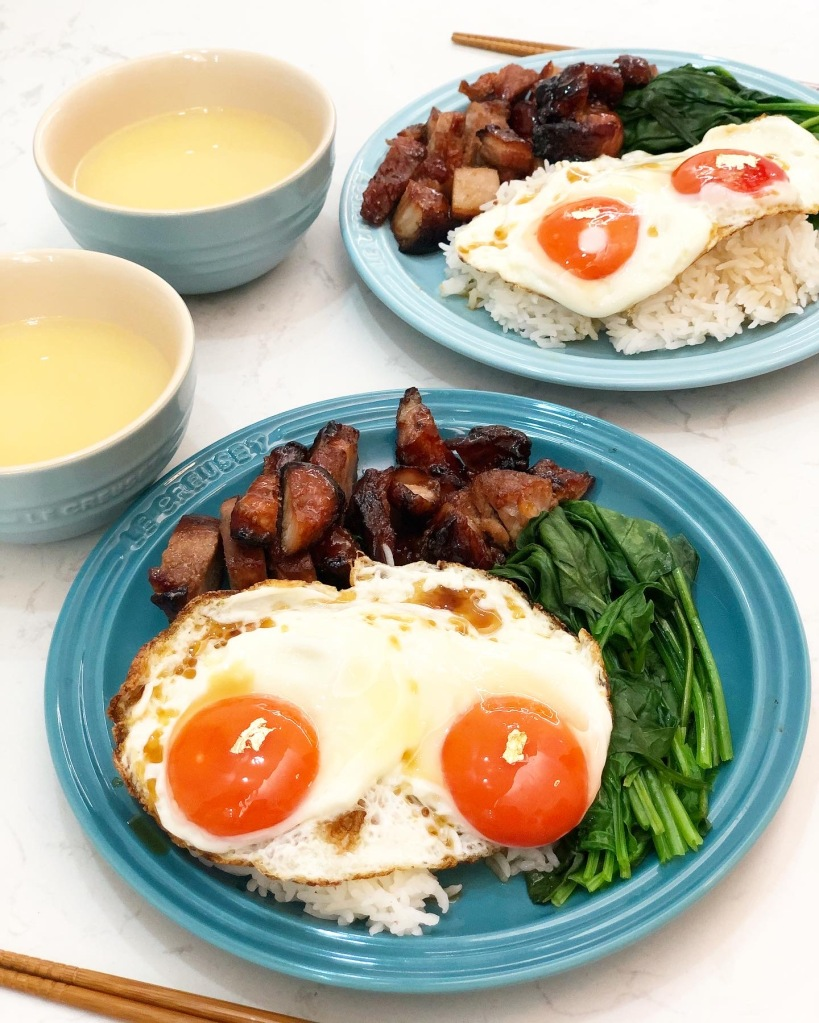 叉燒太陽蛋飯