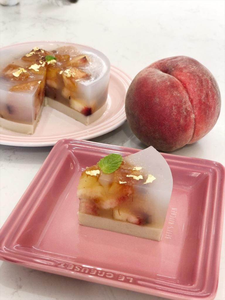 日本桃燕麥奶凍