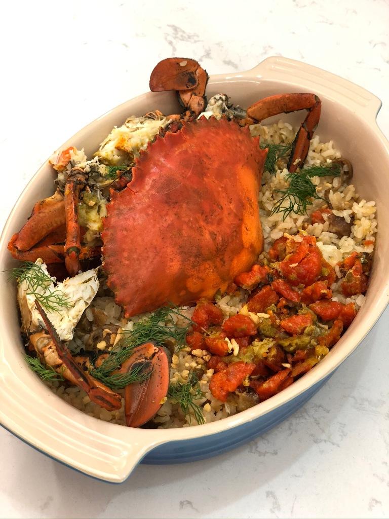 蒜香羔蟹飯