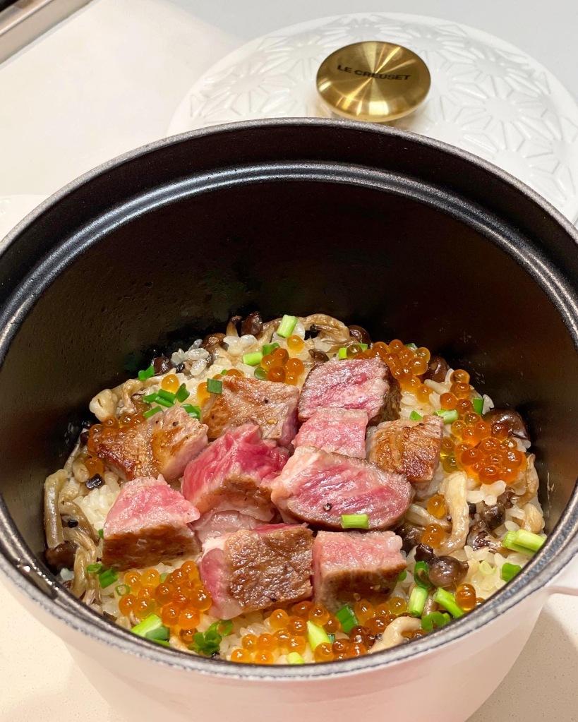 日式和牛香菇釜飯