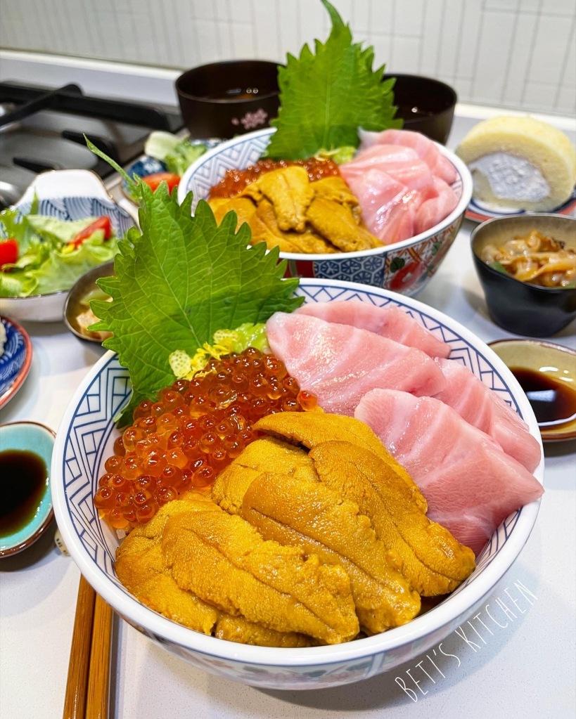 三色丼魚生飯